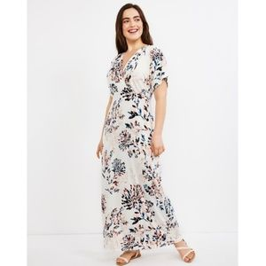 Motherhood Maternity & Nursing Floral Print Dress